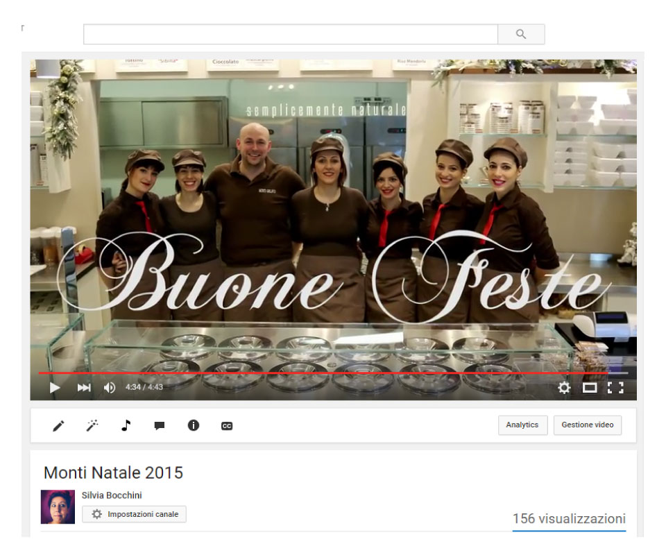 Video per le feste di Natale 2015 per MONTI GELATO <a href='http://www.montigelato.it' target='_blank'>Vedi il video</a>